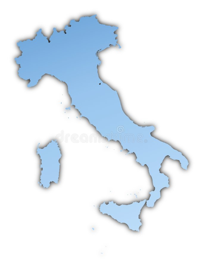 Download Italy map stock illustration. Image of boundary, blur - 6732056
