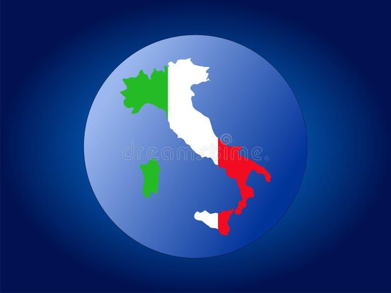 Italy map flag sphere stock illustration