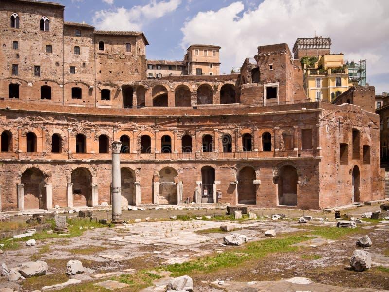 italy marknad trajan rome s fotografering för bildbyråer