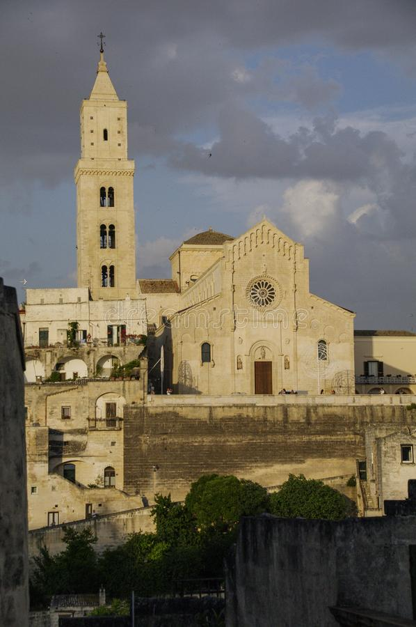 Italy. Matera. Catholic cathedral dedicated to the Madonna della Bruna and Sant'Eustachio, patron saints of the city stock photos