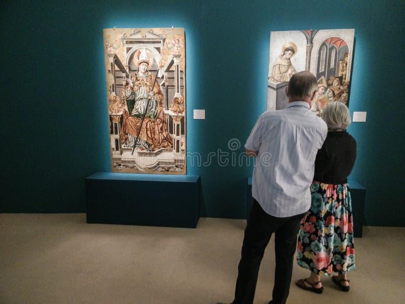 italy Matera, UNESCOplats och europeisk huvudstad av kultur 2019 Utställning renässans som sett från söderna fotografering för bildbyråer