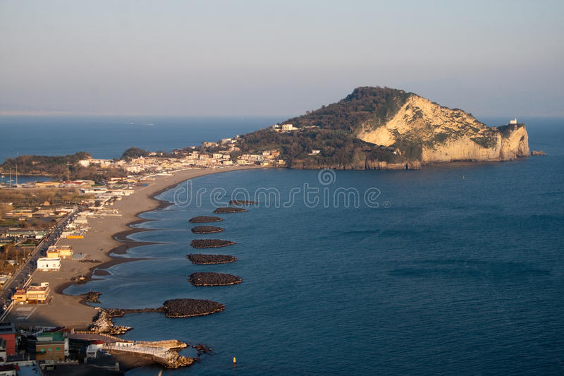 Italy-Miliscola e Capo do sul Miseno imagens de stock