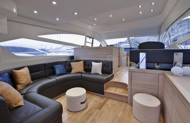 Italy, Naples bay, luxury yacht Abacus 52 ' stock image