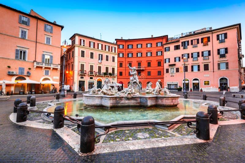 italy navona piazza Rome zdjęcia royalty free