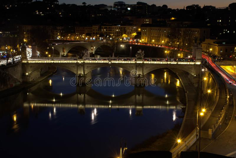 Italy at night royalty free stock image