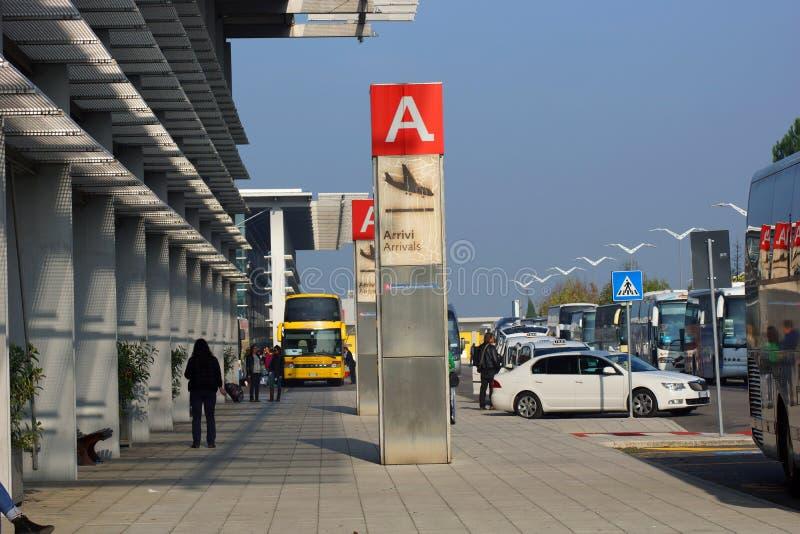 Italy O aeroporto de Ancona fotografia de stock royalty free