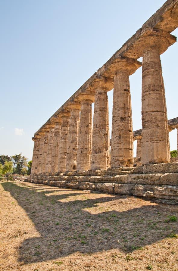 italy paestum świątynia obrazy stock