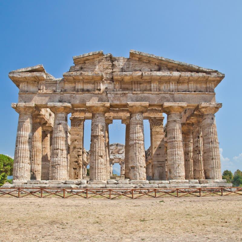 italy paestum świątynia obraz stock