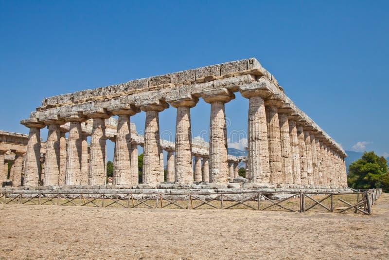 italy paestum świątynia zdjęcie royalty free