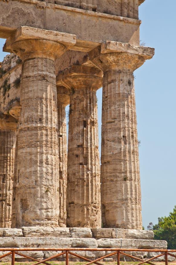 italy paestum świątynia fotografia stock