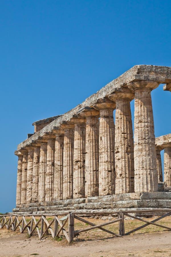 italy paestum świątynia obrazy royalty free
