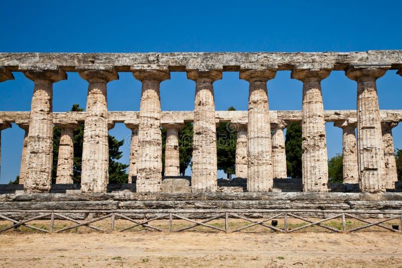italy paestum świątynia zdjęcia royalty free
