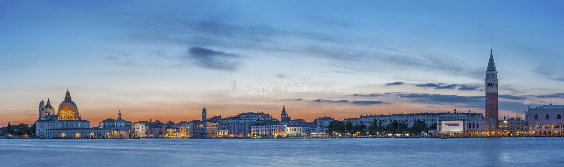 italy panorama venice royaltyfri fotografi