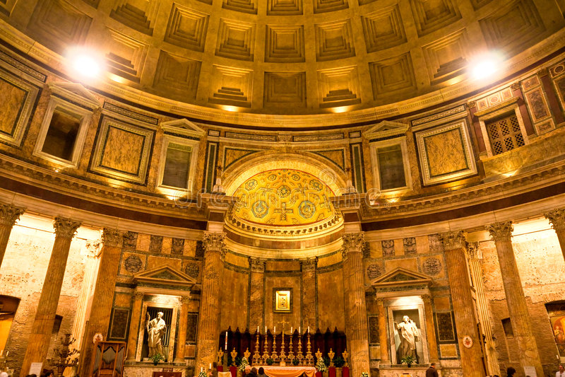 italy panteon Rome zdjęcie stock