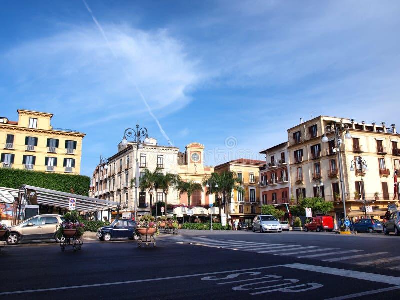 italy piazza Sorrento Tasso obraz stock