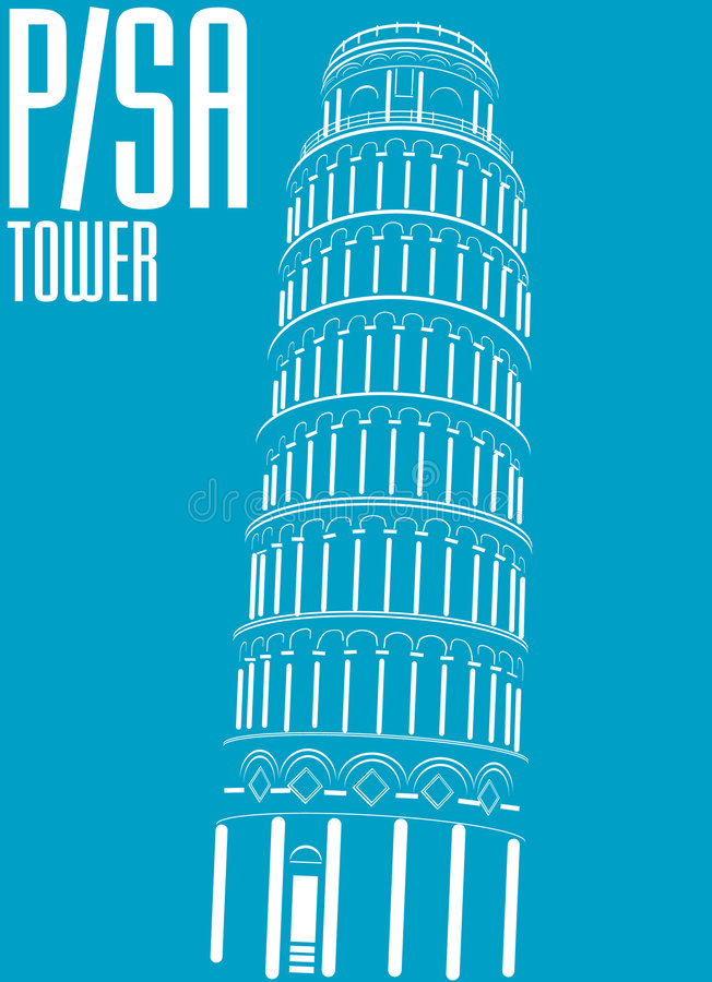 italy pisa torn vektor illustrationer
