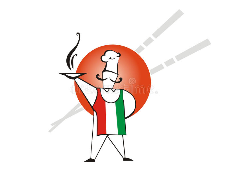 Download Italy is pizza stock vector. Image of edible, dinner - 22832010