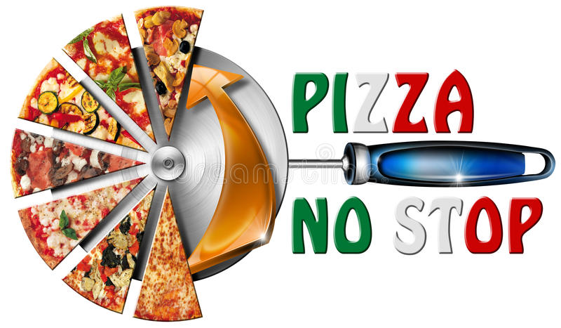 Italy Pizza No Stop royalty free illustration