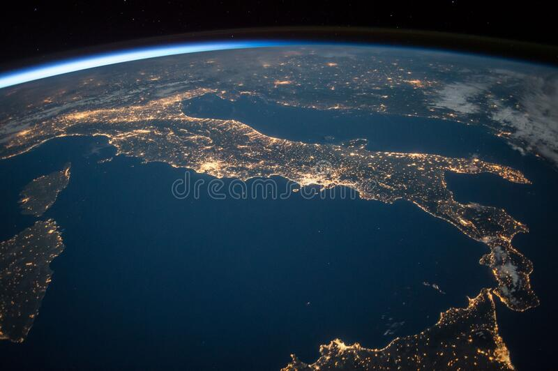 Italy on planet Earth royalty free stock images