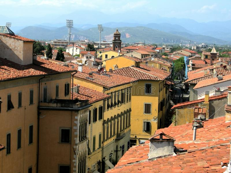 italy platstown tuscany royaltyfria foton