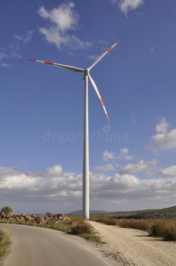 italy południowy turbina wiatr zdjęcie royalty free