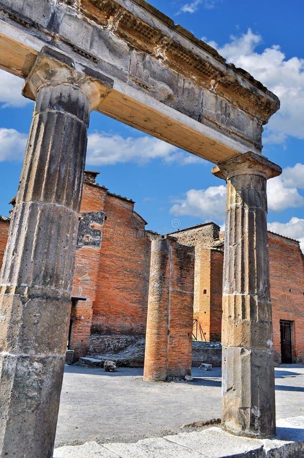 italy pompeii arkivfoto