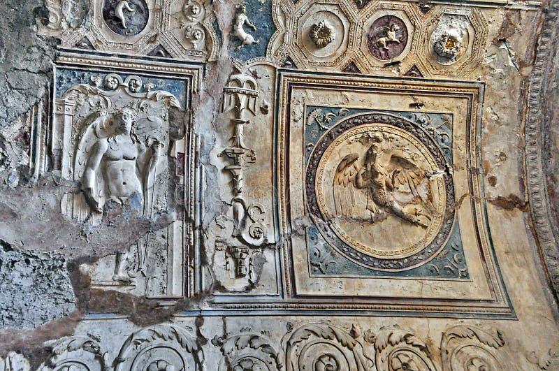 italy pompeii royaltyfria bilder