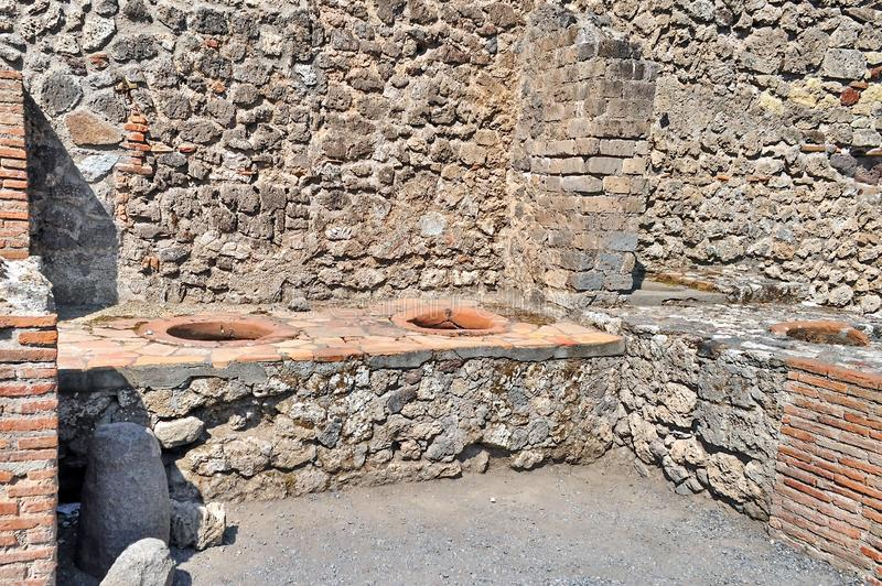 italy pompeii arkivbilder