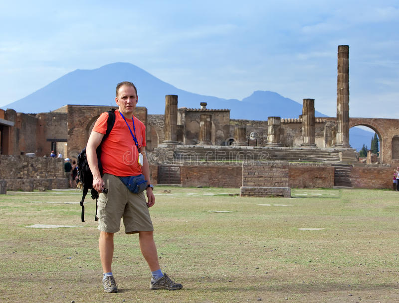 Italy. Pompeii. Tourist stock photography