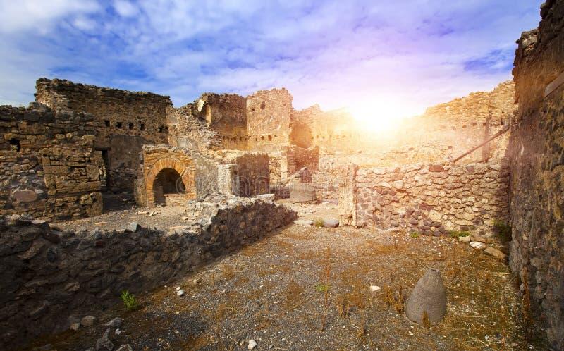 italy pompeyen fördärvar royaltyfria foton