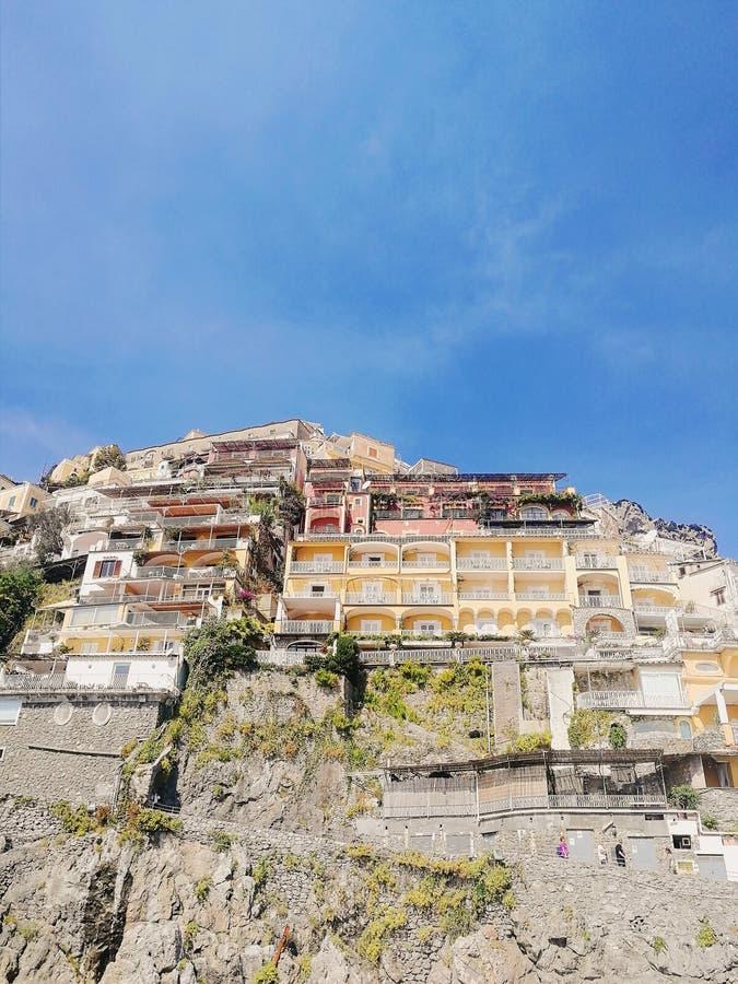 italy positano Amalfi kust royaltyfria foton