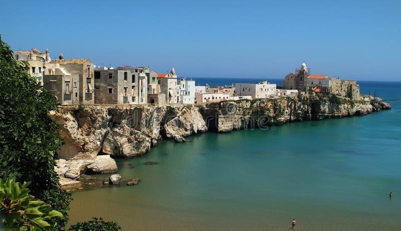 Italy, Puglia,. Italy, coast in Vieste, Puglia stock photography