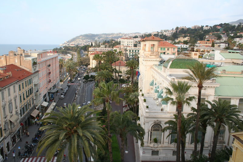 Italy. A resort of San Remo. A casino stock photography