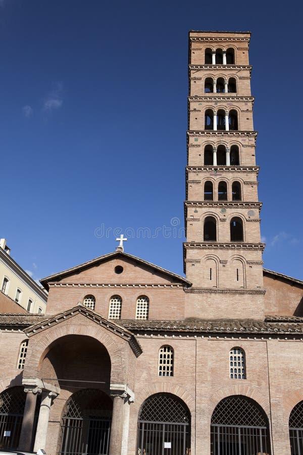Italy roma Basílica de Santa Maria em Cosmedin com a boca da verdade fotos de stock royalty free