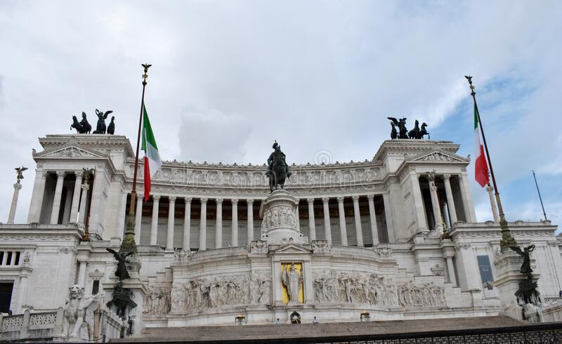 Italy, Roma, The Victor Emmanuel II National Monument. June 2018 royalty free stock image