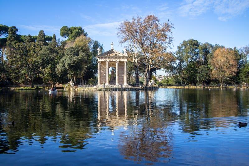 italy Rome Świątynia Asclepius przy willi Borghese ogródami zdjęcie stock