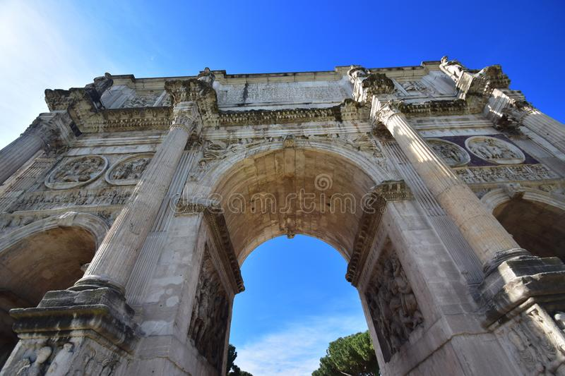 Italy, Rome, Arch of Constantine royalty free stock photo