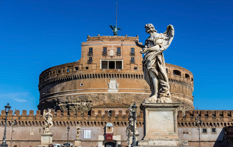 Italy, rome, castel sant angelo. Castel sant angelo royalty free stock images