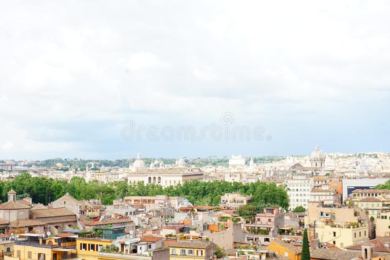 Italy Rome panoramic view royalty free stock photos