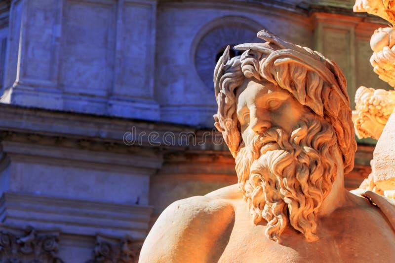 Italy, rome, piazza navona. Italy, rome. piazza navona. four rivers fountain. fontana dei quattro fiumu royalty free stock photos