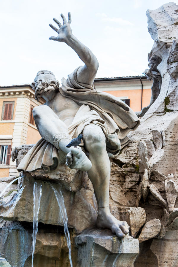 Italy, rome, piazza navona. Italy, rome. piazza navona. four rivers fountain. fontana dei quattro fiumu stock images