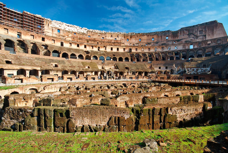 Italy. Rome ( Roma ). Colosseo (Coliseum). Inside view royalty free stock images