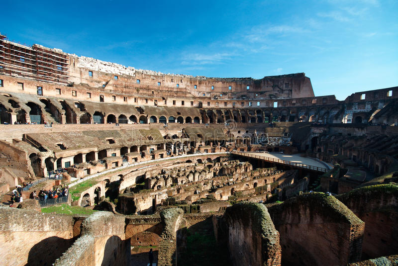 Italy. Rome ( Roma ). Colosseo (Coliseum). Inside view stock photo