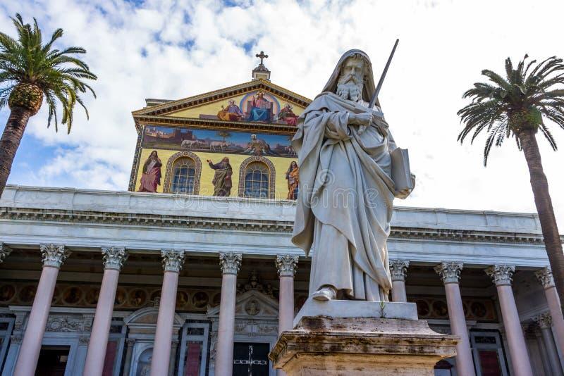 Italy, rome, san paolo fuori le mura. Italy, rome, church of san paolo fuori le mura stock photo