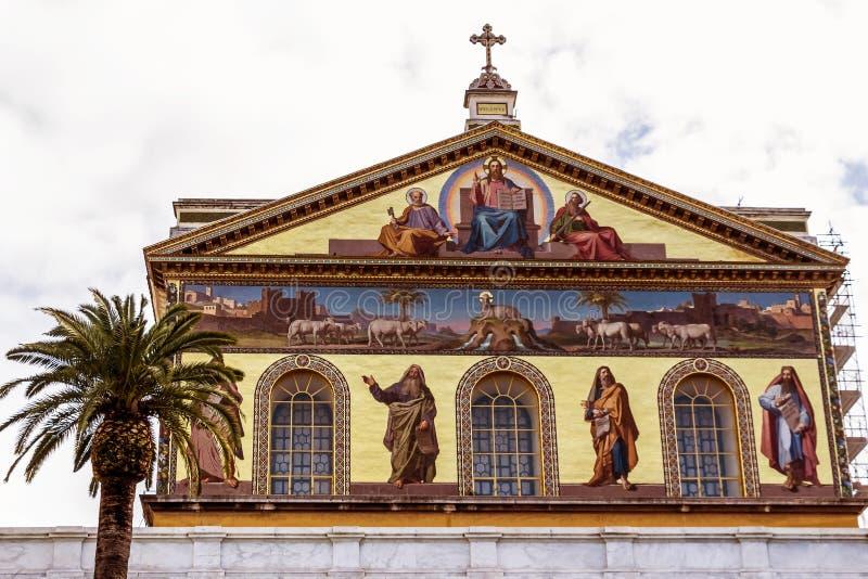 Italy, rome, san paolo fuori le mura. Italy, rome, church of san paolo fuori le mura royalty free stock photography