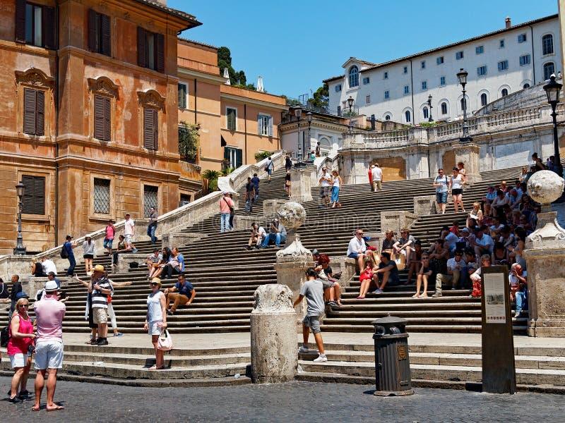 italy Rome spanish kroki obrazy stock