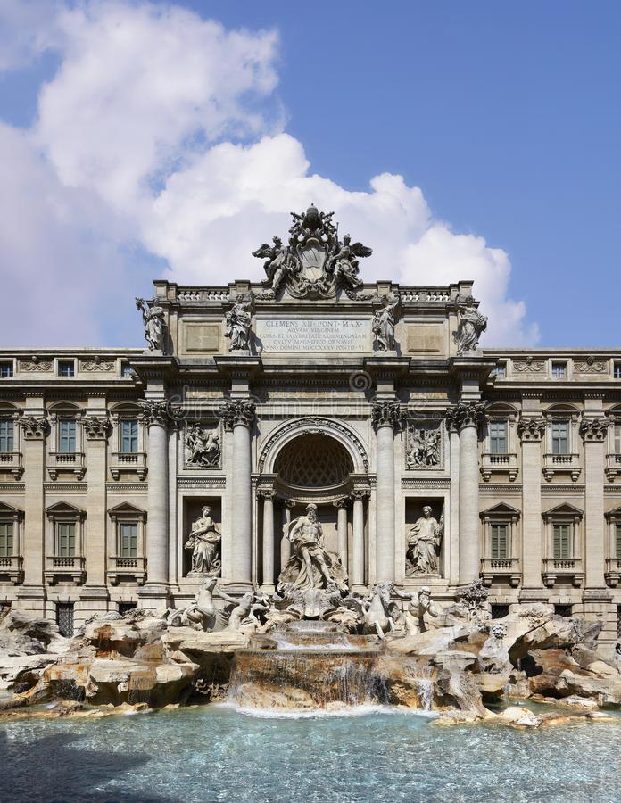 Rome, Trevi Fountain royalty free stock photos