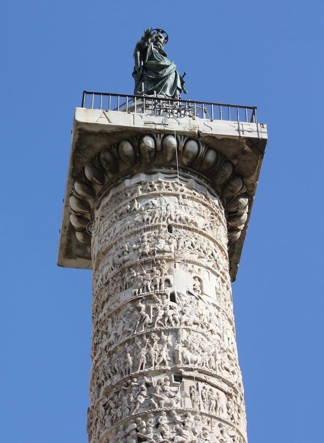 Italy. Rome. Trojan column. City landscape royalty free stock photos