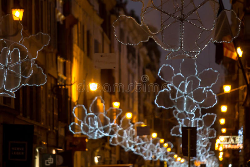 Italy, Rome, Via del Babuino at christmas. Italy, Rome, Via del Babuino, It is december and it shows the first Christmas decorations stock photos