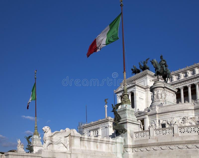 italy rome Vittoriano- en monument i heder av den första konungen av den inkorporerade Italien victoren Emmanuil II royaltyfria foton